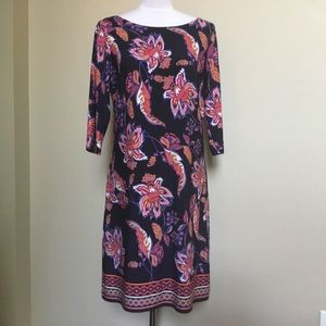 NWT VINCE CAMUTO navy pink floral sheath dress 12